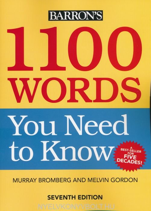1100 Words You Need to Know 7th ed